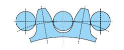 滚销齿轮专用的齿形形状